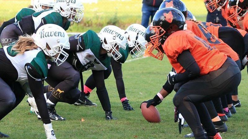 0'30 Wolverines American Football voor dames
